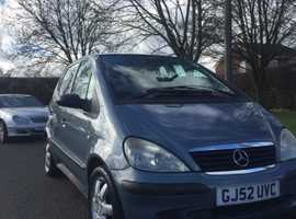 Mercedes-Benz A140 1.4 petrol start and drive very well