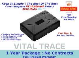 Covert Magnetic VT 10,000mAh Battery GPS Tracker, Find Locate Car Van Digger Carvan Trailer Motor Home EU Coverage 1 Year Package £49.00