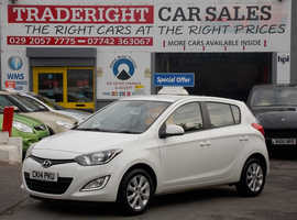 2014/14 Hyundai i20 1.2 Style finished in Arctic White. 51,138 miles