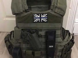 SWAP - NEW SAS MSA Paraclete Body Armour + Fillers + Plates + ACH Combat Helmet Airsoft
