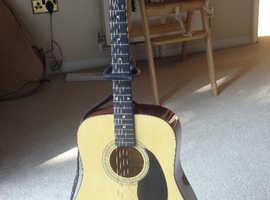 Fender acoustic guitar.
