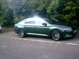 Skoda Superb, 2019 (19) Emerald green, hatchback, 7 speed auto Diesel, 630 miles