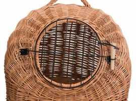 Wicker Cat basket, Mesh door, Handle, Den, Transport, Vey, Journey, Best Quality