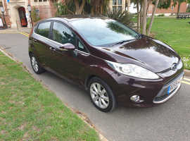 FORD FIESTA 1.2 ZETEC,2009/59 REG NEW SHAPE 5 DOOR HATCHBACK,65000 MILES,AIRCON,£3675.