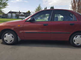 Daewoo Lanos, 2001 (Y) red hatchback, Manual Petrol, 41,000 miles