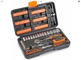 VONHAUS 130PC SOCKET + BIT SET INCLUDING 72-TEETH RATCHET HANDLE