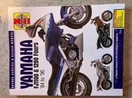 Like New Haynes Owners Workshop maual for the Yamaha FJ1100/FJ1200. 1984-96.