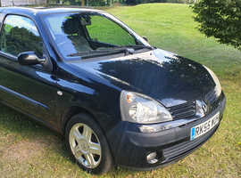 Renault Clio, 2005 (55) Black Hatchback, Manual Petrol, 99,000 miles