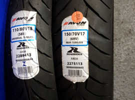 Pair of brand new motorcycle tyres