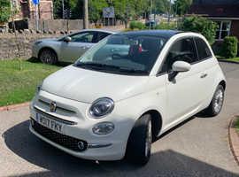Fiat 500, 2017 (17) White Hatchback, Manual Petrol, 22,500 miles