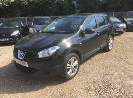 Nissan Qashqai+2 2012 (61) Black Hatchback, Manual Diesel, 86,000 miles