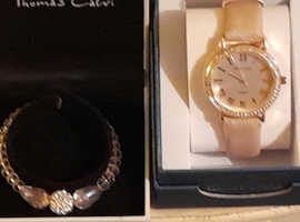 Unworn, Thomas Calvi watch and bracelet set