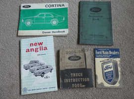 FORD MOTOR NEW ANGLIA INSTRUCTION BOOKS  5 IN TOTAL
