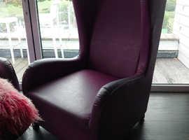 4 Purple Armchairs - Free