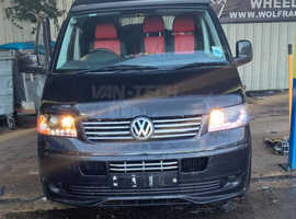 VW Transporter T5 Headlights privacy Glass and Barn Door Spoiler