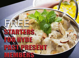 Free Starters For Hyde Past Present Members On Collection Orders Over £12 | Maha Indian Cuisine