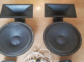 YAMAHA S115IV WOOFERS HORNS CROSSOVERS TERMINALS ALL WORKING NO CABINETS.