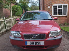 Volvo S80, 1999 (S) Red Saloon, Automatic Petrol, 90,000 miles
