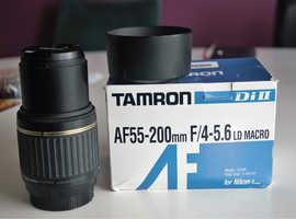Nikon fit Tamron lens  55-200mm