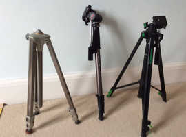 SET OF 3 ITEMS SOLD TOGETHER : 2 Tripods and 1 monopod