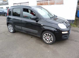 Fiat Panda, 2012 (62) Black Hatchback, Manual Diesel, 100,000 miles