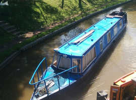 Narrow Boat / Dutch Barge For sale with Central Worcester Mooring. Only 400m from city centre.