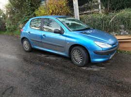 Peugeot 206, 2002 (02) Blue Hatchback, Manual Petrol, 76,305 miles