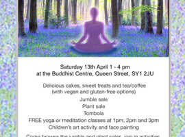 Shrewsbury Buddhist Spring fair  Sat 13 April 1-4  All welcome