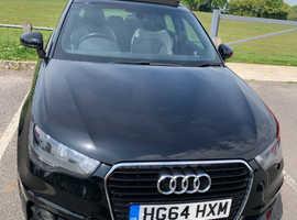 Audi A1, 2015 (64) Black Hatchback, Manual Diesel, 72,000 miles