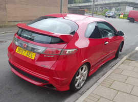 Honda Civic, 2008 (57) Red Hatchback, Manual Petrol, 169 miles
