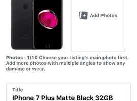 iPhone 7 Plus Jet Black 32GB Locked EE