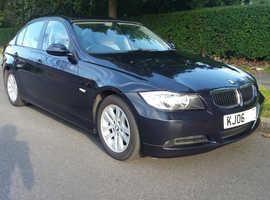 BMW 3 Series, 2006 (06) Blue Saloon, Manual Diesel, 120,100 miles