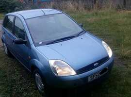 Ford Fiesta, 2003 (52) Blue Hatchback, Manual Petrol, 91,000 miles