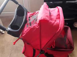 Used once  dog stroller for sale