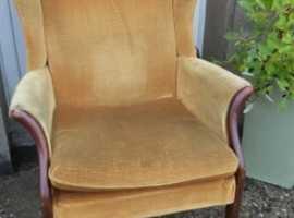 Vintage Parker Knoll Wingback PK750 Gold