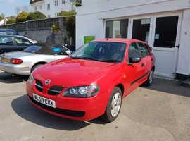 Nissan Almera, 2003 (53) Red Hatchback, Manual Petrol, 115,000 miles