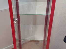 A Metal Frame and Glass Display Cabinet