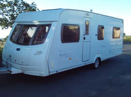 Lunar Solaris 2006 fixed end bed four berth touring caravan good clean condition lots of accessories.