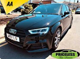 Audi A3, 2019 (19) Black Hatchback, Manual Petrol, 12,485 miles