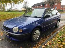 Toyota Corolla, 1998 (S) Blue Hatchback, Automatic Petrol, 97,400 miles