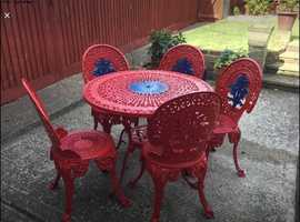 Heavy Metal Vintage Table and Chairs