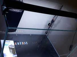 aquarium setup with cabinet