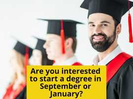 Are you interested to start a degree in Sep & Jan?