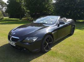 BMW 6 Series, 2006 (06) Black Convertible, Automatic Petrol, 120,000 miles
