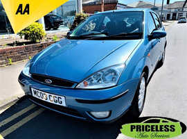 Ford Focus, 2003 (03) Blue Hatchback, Manual Petrol, 82,232 miles