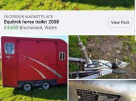 Equitrek horse trailer 2008