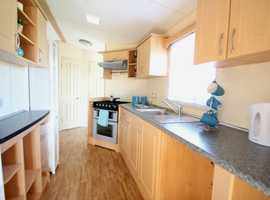 Cheap static for sale at pendine sands near the sea with sea views