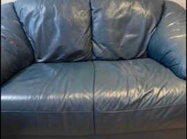 DARK BLUE TWO SEATER SOFA - GREAT CONDITION