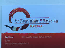 Painter & Decorator Ian Oliver. For a no mess professional service. Call now for a free no obligation quote