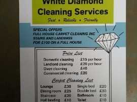 White diamond cleaning services